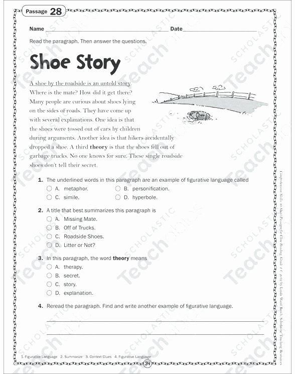 Metaphor Worksheet Middle School Figurative Language Worksheets