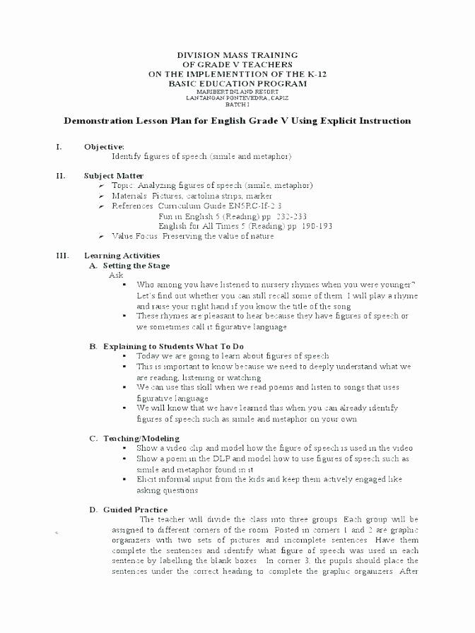 Metaphor Worksheet Middle School Worksheets On Figures Of Speech – Openlayers