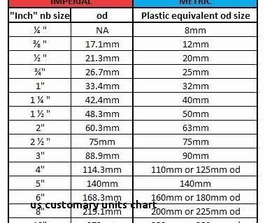 Metric and Customary Conversions Worksheets Lines Us Customary Units Chart