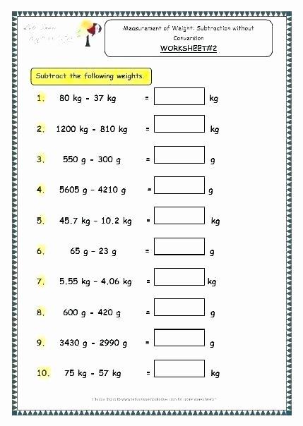 Metric Conversion Worksheets 5th Grade 5th Grade Measurement Worksheets