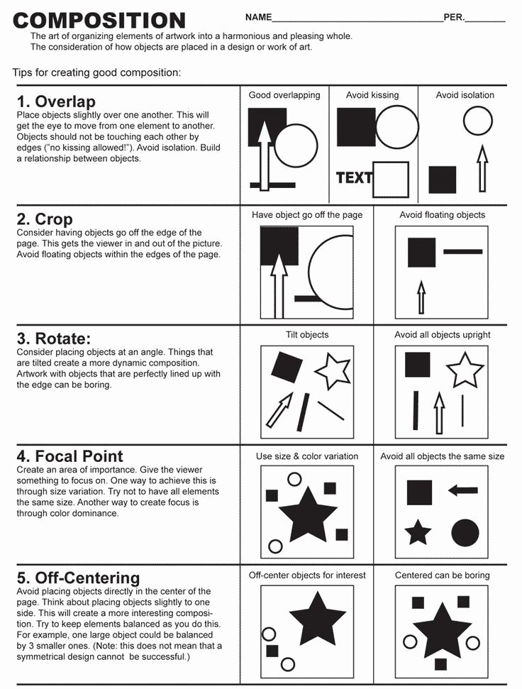 Middle School Art Worksheets Elegant Art Position Google Search