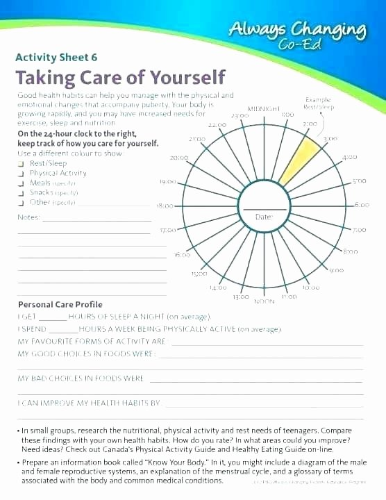 Middle School Health Worksheets Free Health Worksheets for Elementary Students