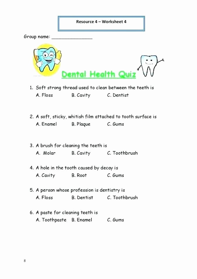 Middle School Health Worksheets Pdf First Grade Health Worksheets 6 Free for 7 Pdf
