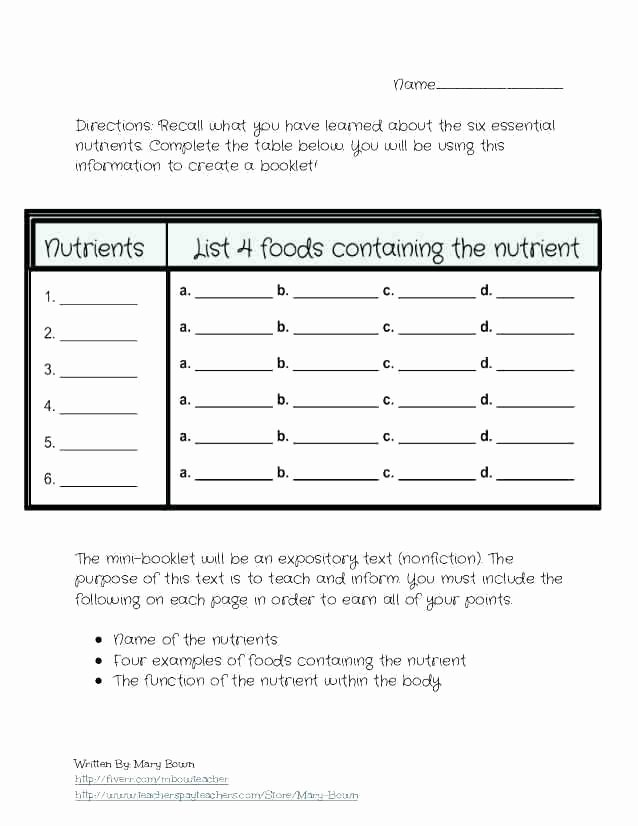 Middle School Health Worksheets Pdf Middle School Health Worksheets