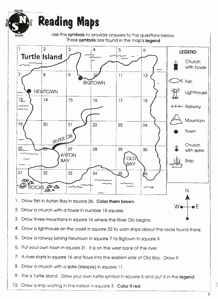 Middle School Map Skills Worksheets Free Map Skills Worksheets
