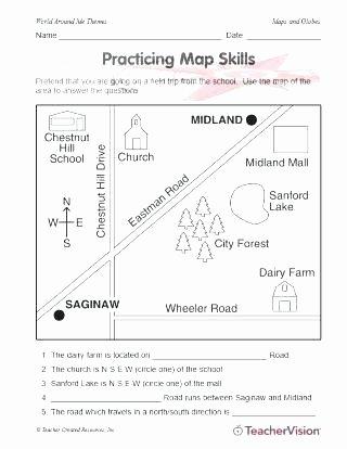 Middle School Map Skills Worksheets Printable Map Skills Worksheets – Dstic