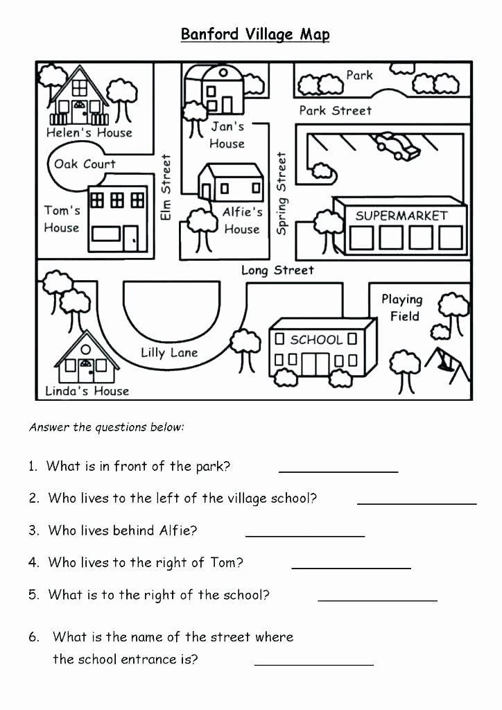 Middle School Map Skills Worksheets Sixth Geography Skills Worksheet 25 Answers Geography Skills