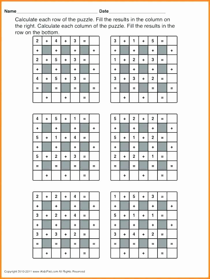 Middle School Math Puzzles Printable Free Fun Worksheets for Middle School