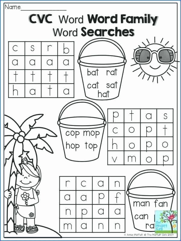 Middle sound Worksheet Cvc at Family Worksheets Word Printables Sight and sound Reading