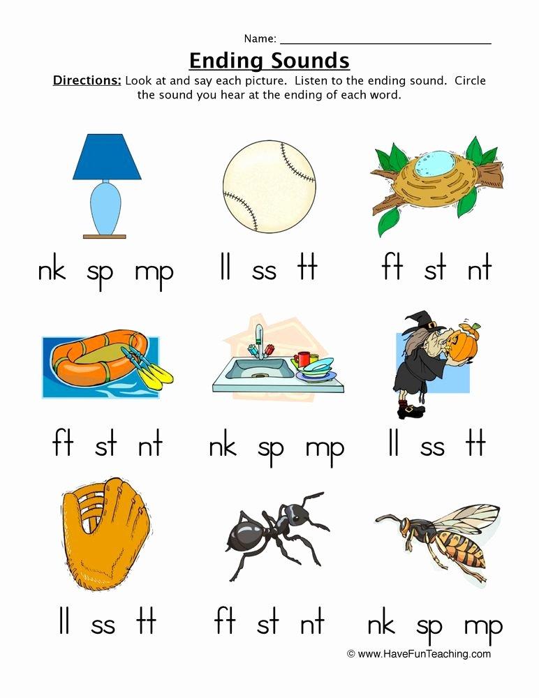 Middle sound Worksheet Ending sounds Worksheet Teaching Ideas