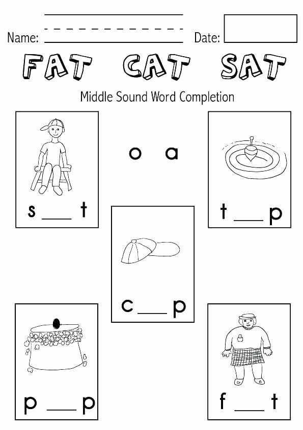 Middle sound Worksheets Free Printable Worksheets for Back to School Kindergarten Kg
