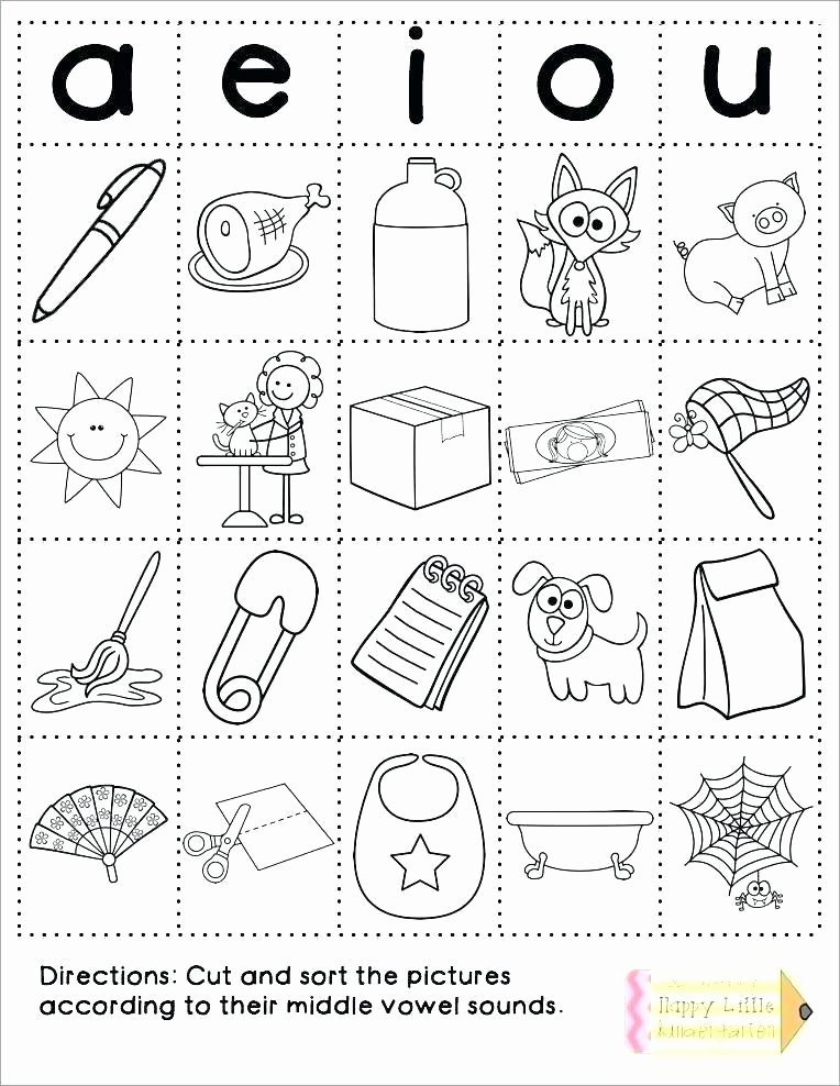 Middle sound Worksheets Middle sound Worksheets the Best Image Collection Free