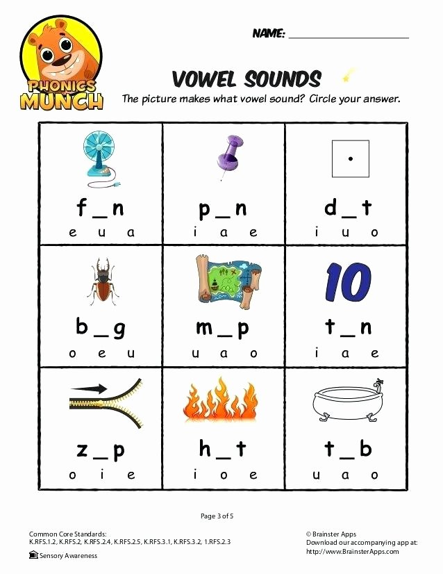 Middle sounds Worksheet Three Letter Words Worksheets with A Vowel sounds