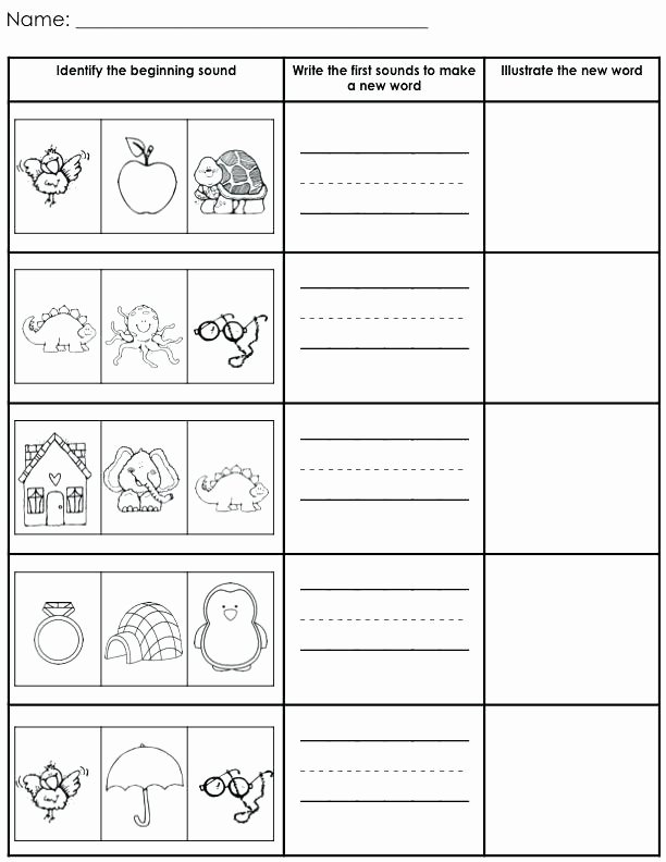 Middle sounds Worksheets for Kindergarten Blending Words Kindergarten Literacy and Segmenting Cvc
