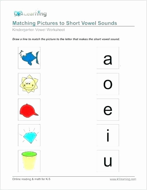 Middle sounds Worksheets for Kindergarten sounds Worksheets for Kindergarten
