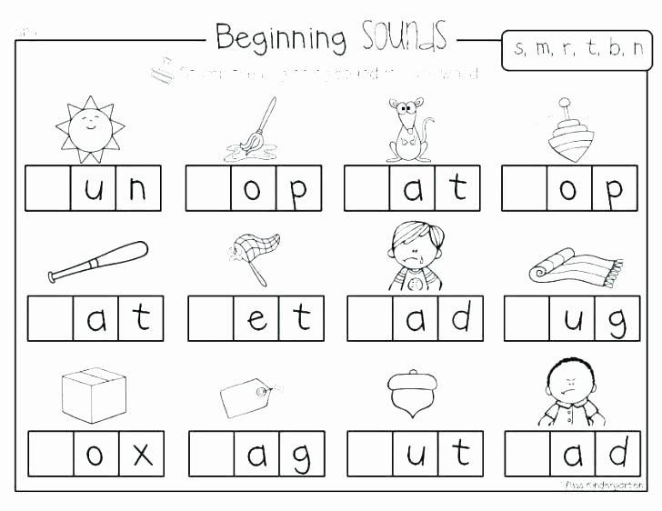 Middle sounds Worksheets for Kindergarten Vowel sounds Worksheets for Kindergarten Activities Words