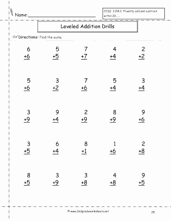 Minute Math Subtraction Awesome Grade Math Worksheets Addition and Subtraction Printable