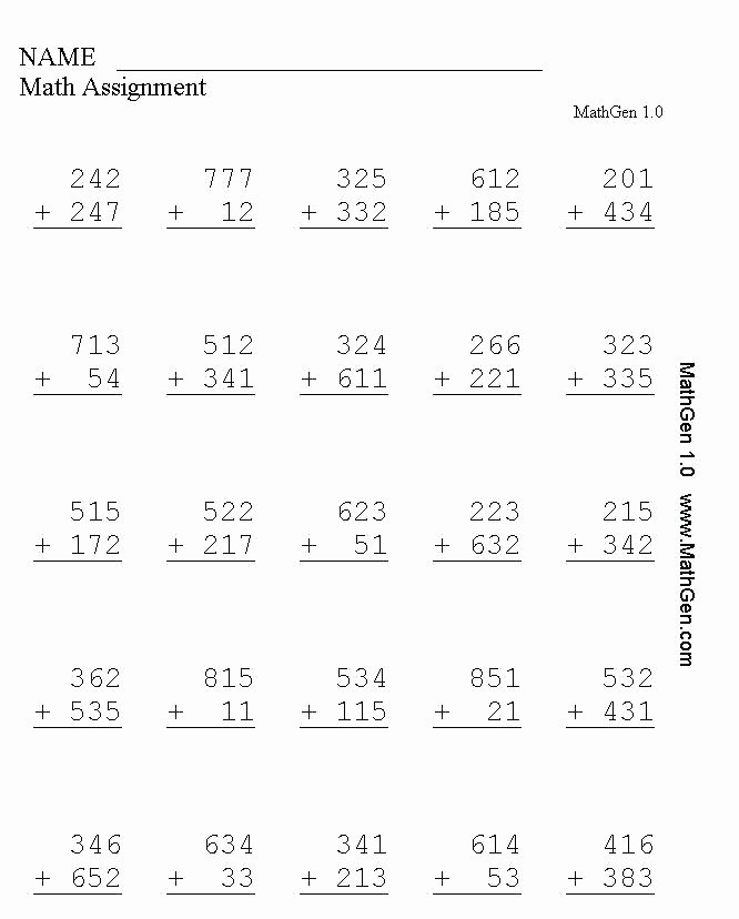 Minute Math Subtraction New Grade Mon Core Math Worksheets Free Math Worksheets 2nd