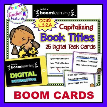 Miss Nelson is Missing Printables Capitalization Book Titles Worksheets & Teaching Resources