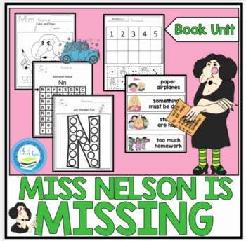 Miss Nelson is Missing Worksheets Miss Nelson is Missing Cut and Paste Worksheets & Teaching