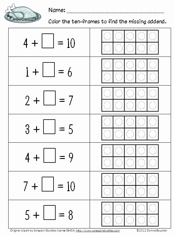 Missing Addend Worksheets 1st Grade Missing Addends Worksheet Grade Math Addend Worksheets First