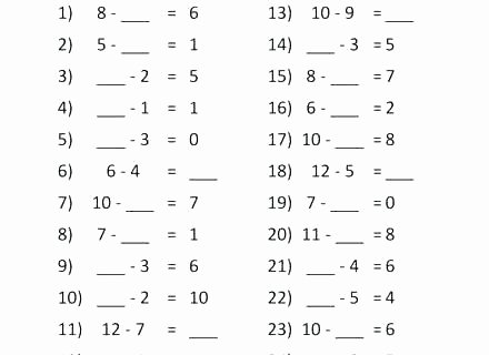 Missing Addend Worksheets First Grade Free Missing Addend Worksheets