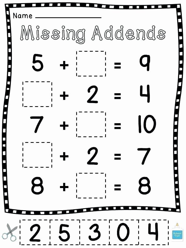 Missing Addend Worksheets First Grade Missing Addend Word Problems Worksheets