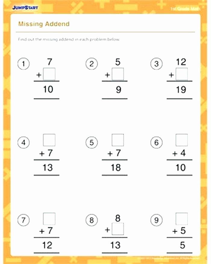 Missing Addend Worksheets Kindergarten Missing Addend Worksheets for Kindergarten