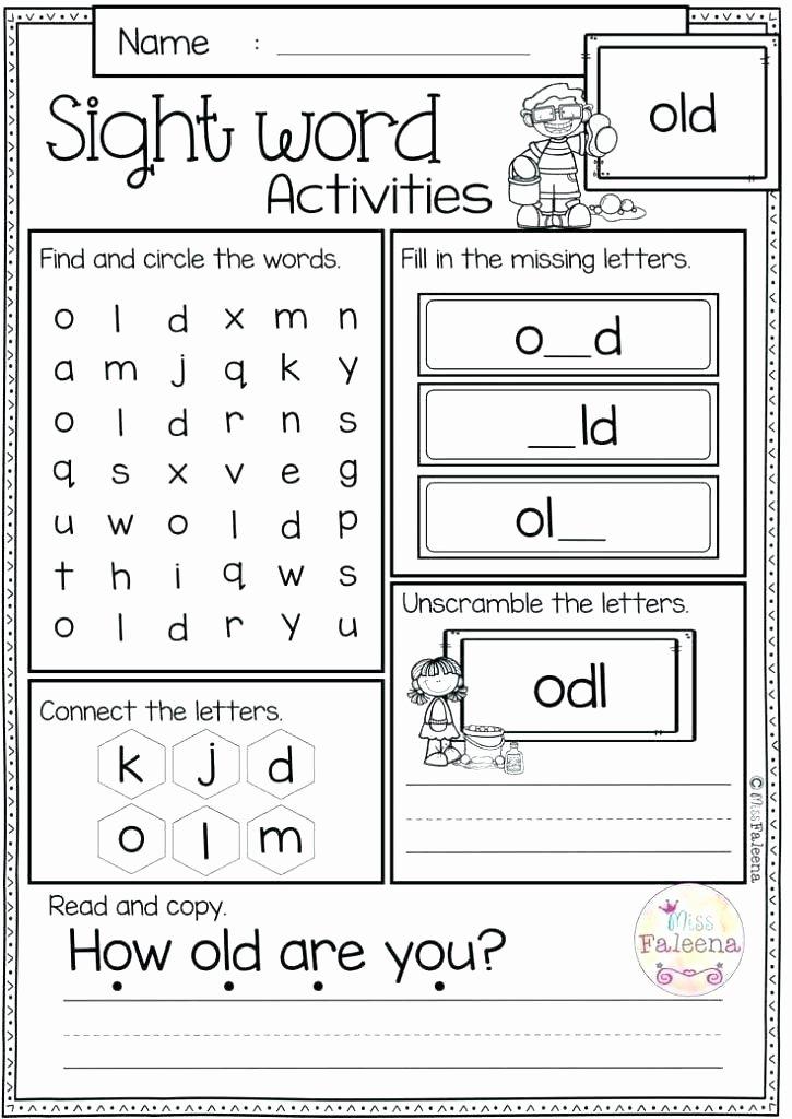Missing Addend Worksheets Kindergarten Sight Word Worksheet Spring 4 Free Printable Sentences