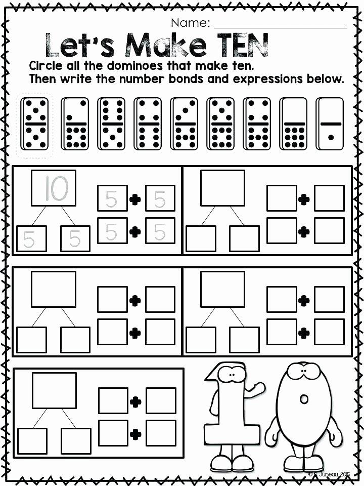 Missing Addends Worksheets 1st Grade Math Worksheets Grade Missing Addends Number Bonds for 1 3