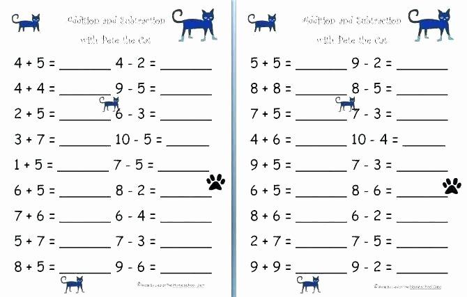 Missing Addends Worksheets First Grade Best Of Subtraction Worksheets for 1st Grade
