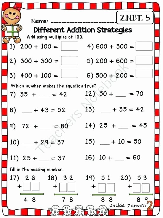 Missing Addends Worksheets First Grade Luxury 62 Missing Addend Worksheets for First Grade 4th