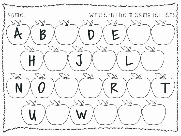 Missing Alphabet Letters Worksheet Free Alphabet Worksheets for Kindergarten Printable Tracing Ki