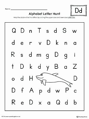 Missing Alphabet Letters Worksheet Free Printable Letter D Worksheets for Kindergarten