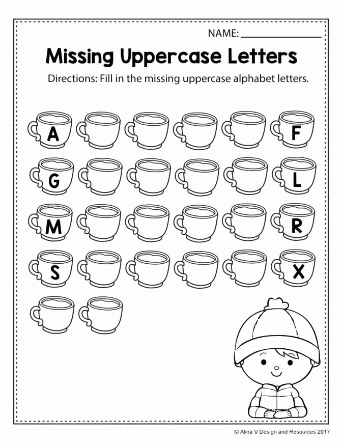 Missing Alphabet Letters Worksheet Letter E Printable Worksheets Learning the Alphabet Free