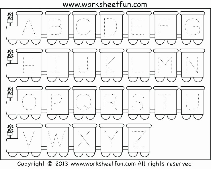 Missing Alphabet Letters Worksheet Tracing Uppercase Letters Printable Worksheets Kindergarten