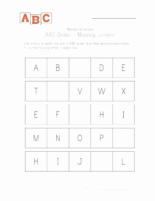 Missing Letter Alphabet Worksheets Alphabet Worksheets for First Grade