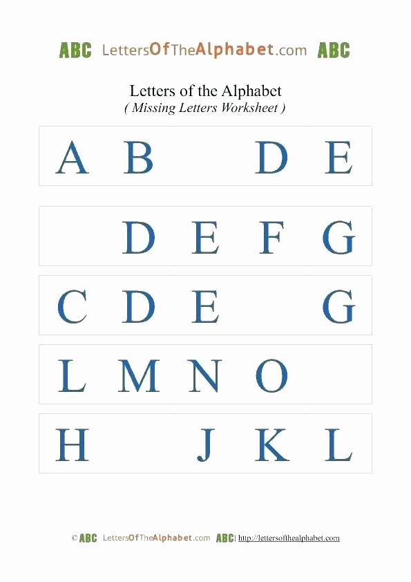 Missing Letter Alphabet Worksheets Letter S Worksheets Pdf