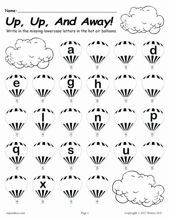 Missing Letter Alphabet Worksheets Lowercase Letter I Kindergarten Writing Printable Worksheets