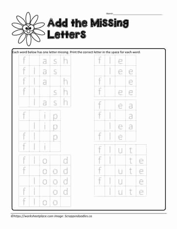 Missing Letter Alphabet Worksheets Missing Letters Fl Worksheets