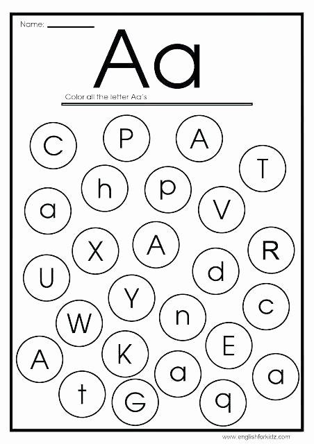 Missing Letters Worksheet for Kindergarten Find the Letter Worksheets