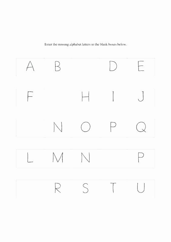 Missing Letters Worksheet for Kindergarten Letter S Worksheets Pdf