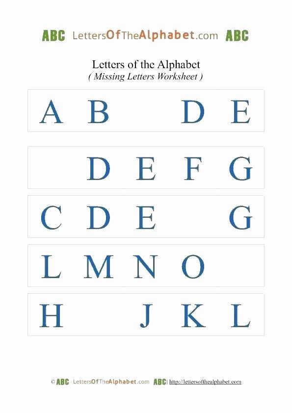 Missing Letters Worksheet for Kindergarten Missing Letters Worksheets for Grade 1 Trace Alphabet