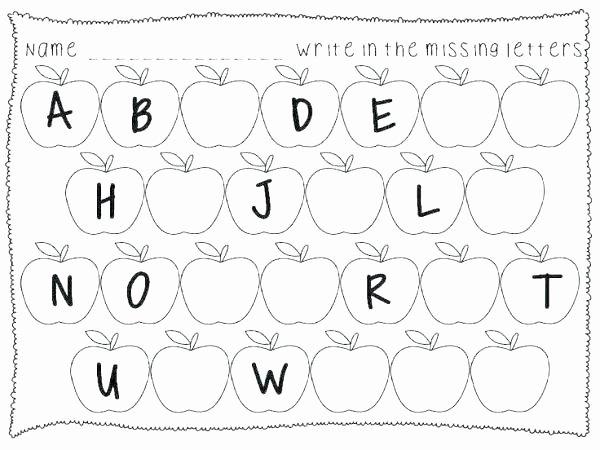 Missing Letters Worksheet for Kindergarten Recognizing Letters Worksheets Kindergarten
