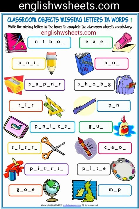 Missing Letters Worksheets for Kindergarten Pinterest