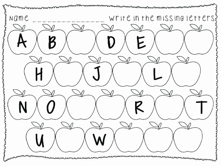 Missing Letters Worksheets Pdf Free Alphabet Tracing Worksheets for K Letter Trace School