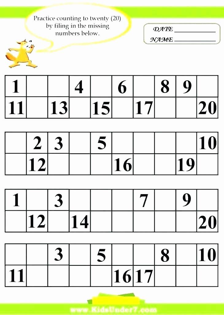Missing Number Worksheet for Kindergarten Find the Missing Number Worksheets – Uasporting