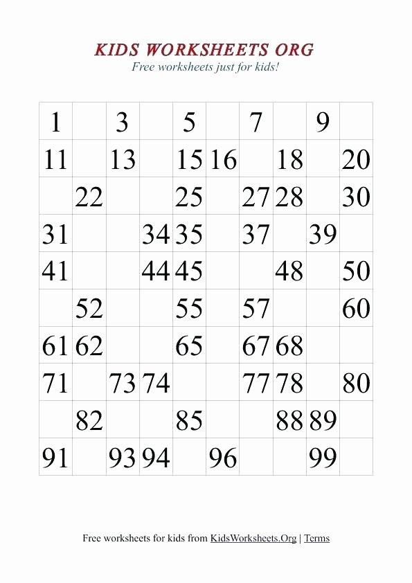 Missing Number Worksheet for Kindergarten Free Number Writing Worksheets