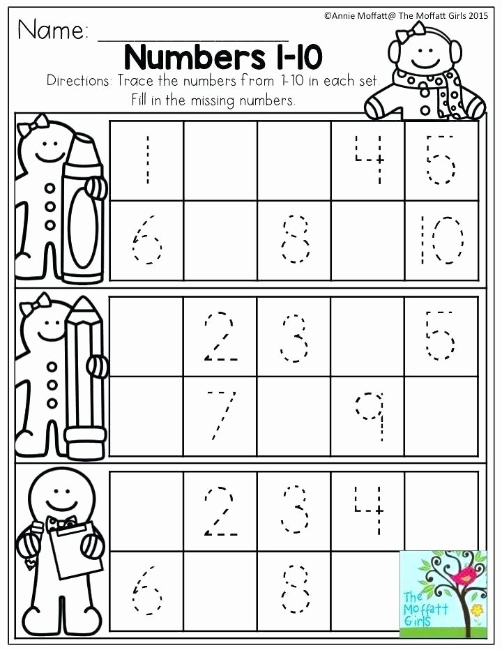 Missing Number Worksheet for Kindergarten Printable Number Tracing Worksheets for Kindergarten