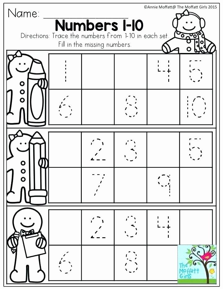 Missing Number Worksheet for Kindergarten Printable Number Tracing Worksheets for Kindergarten